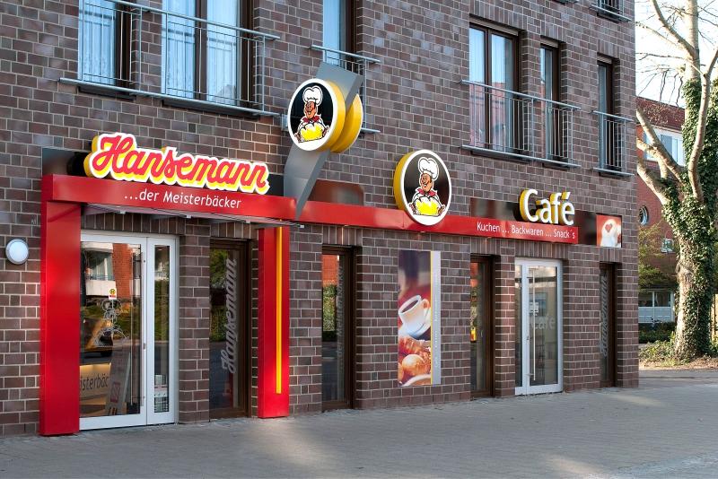 Lichtwerbung Hansemann Bäckerei