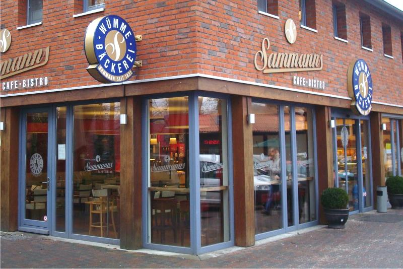 Lichtwerbung Bäckerei Sammann